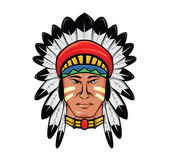 Apache head — Stock Vector