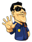 Police man — Stok Vektör