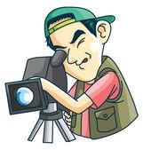 Cameraman — Stock Vector