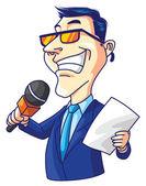 Homme journaliste — Vecteur