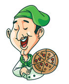 Illustration of pizza chef — Stock vektor