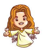 Illustrazione di angelo — Vettoriale Stock