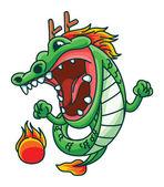 иллюстрация дракона — Cтоковый вектор
