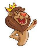 Illustration of lion with crown — ストックベクタ