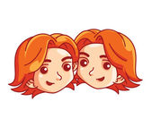 Twin Sister — Stock Vector