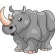 Rhino Cartoon Illustration — Stock Vector #46916179
