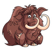 Mammoth Cartoon Illustration — Stock Vector