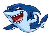 Shark Funny Cartoon — Stock Vector