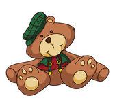 Teddybär-cartoon — Stockvektor