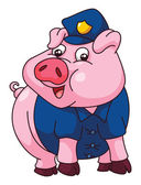 Pig Police — Stock Vector