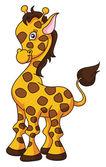 Zürafa karikatür komik resim — Stok Vektör