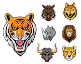 Collection animale sauvage — Vecteur