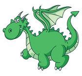 Green Dragon Funny — Stock Vector