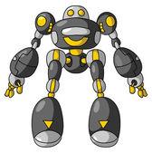 Black Robot — Stock Vector