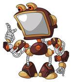 Robot Screen — Stock Vector