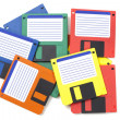 Floppy disks (3.5) from the late 80s/early 90s — Stock Photo