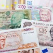 Former Greek, Spanish, Italian and Portugues currency — Stock Photo