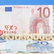 Inflation concept with Euro money - Stock Photo