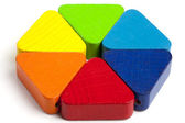 Color hexagon toy for baby and toddler ages — Stock Photo