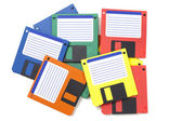 Floppy disks as used in late 1980s — Stock Photo