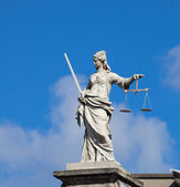Lady Justice (Justitia) statue in Dublin — Stock Photo