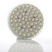 Energy saving LED lamp for halogen spot replacement — Stock Photo