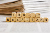 Letter Dices Concept: Public Relations — Stock Photo
