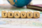 Letter Dices Concept: Travel — Stock Photo