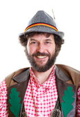 Bearded guy in traditional bavarian clothes — Stock Photo