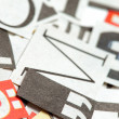 Newspaper Letters Background — Stock Photo