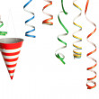 Party - Streamers and Hats — Stock Photo