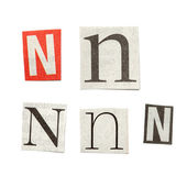 Newspaper Letters — Stock Photo