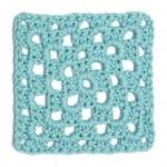 Crochet Doily - Light Blue Granny Square — Stock Photo #21868401
