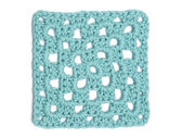 Crochet Doily - Light Blue Granny Square — Stock Photo