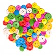 Stock Photo: Heap of clothing or sewing buttons