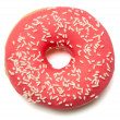 Stock Photo: Pink, red Donut with sugar sprinkles
