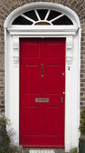 Colored door in Dublin from Georgian times (18th century) — Stock Photo
