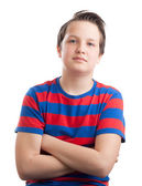 Teenage boy (Causian) waist up portrait — Stock Photo
