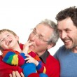 Three generations: Grandfather, father and son — Stock Photo #28898281