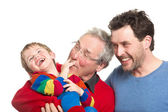 Three generations: Grandfather, father and son — Stock Photo