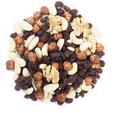 Trail mix nuts and raisins — Stock Photo