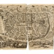 Antique Map - Old Dutch - Jerusalem — Stock Photo