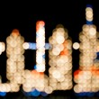 City Lights - Vertical - Abstract — Stock fotografie