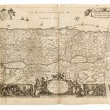 Stock Photo: Antique map from old Dutch bible