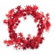 Stock Photo: Red Start decoriation tied in circle