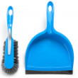 Household cleaning brush and dustpan — Stock Photo