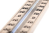 Wooden thermometer with Celsius degree scale — Stock Photo