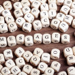 Stock Photo: Letter dices word - messages