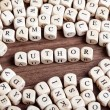 Stock Photo: Letter dices word - author