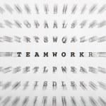Crossword letters, focus on word teamwork — Stock Photo #41491203